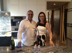 Soli with interior designer Kathryn Waltzer