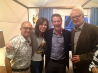 Interior Designer Michael Berman, Interior Designer Donna Livingston, president of Snyder Diamond Russ Diamond, and architect Doug Burdge