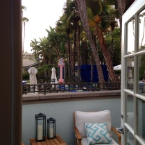 Private furnished patio overlooking Miramar Gardens