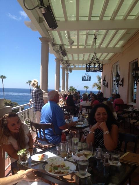 La Valencia Hotel outdoor terrace