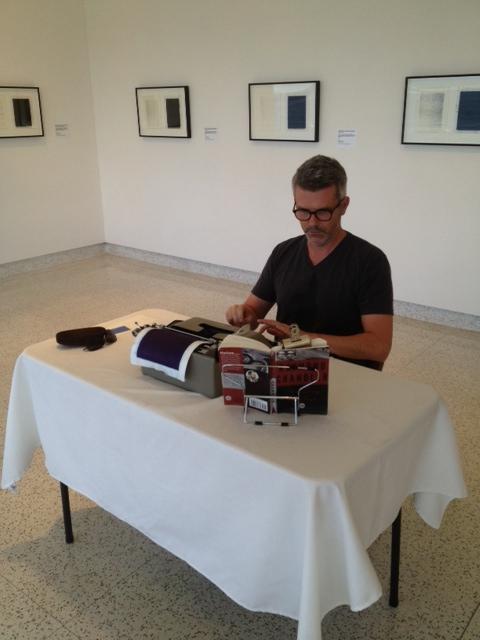 Performance artist Tim Youd at San Diego Museum